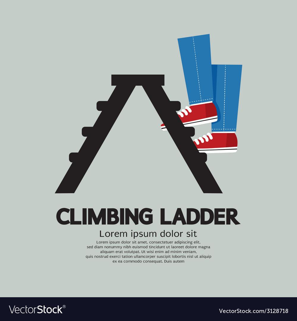 Legs climbing ladder vector | Price: 1 Credit (USD $1)