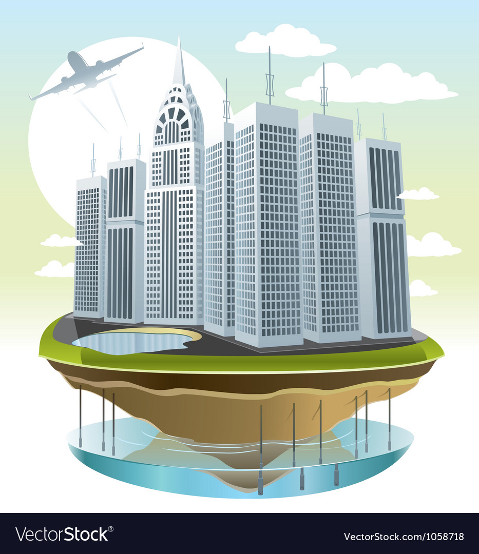 Modern city vector | Price: 5 Credit (USD $5)