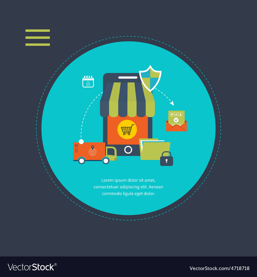 Online shopping concept vector   Price: 1 Credit (USD $1)