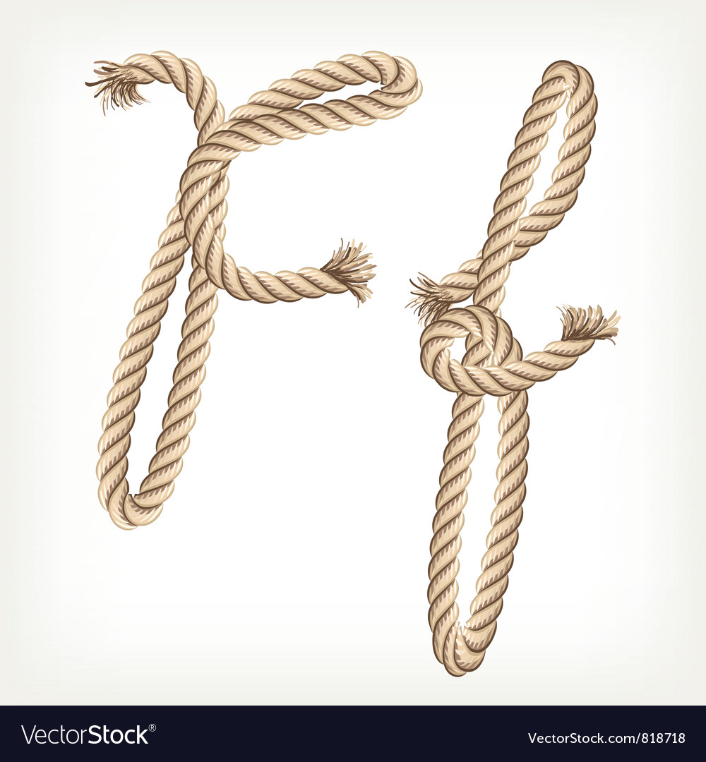 Rope alphabet letter f vector | Price: 1 Credit (USD $1)