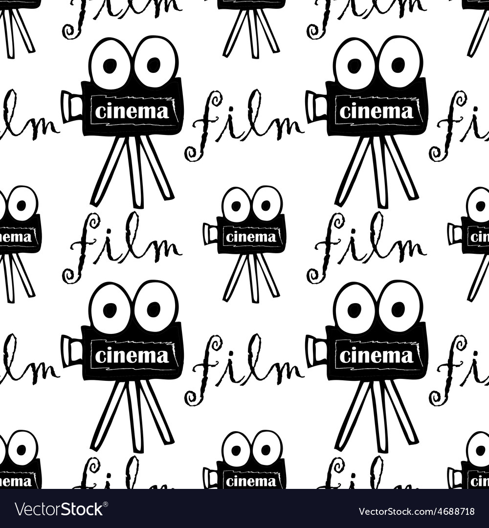 Seamless pattern with cameras vector   Price: 1 Credit (USD $1)