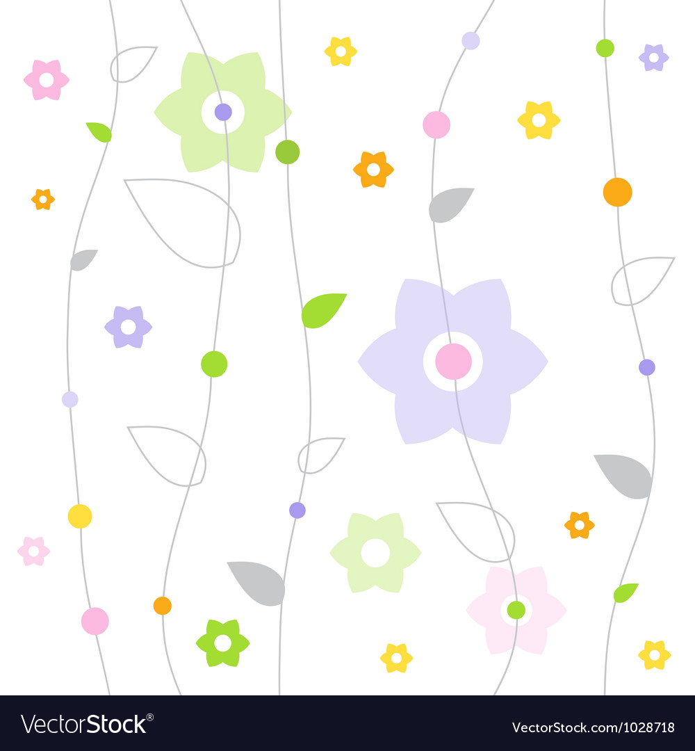 Spring fresh pattern vector | Price: 1 Credit (USD $1)