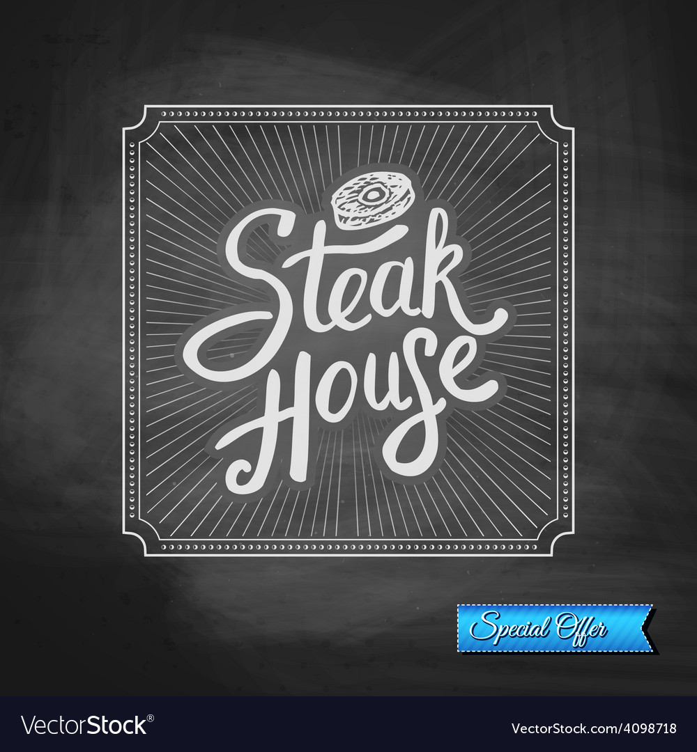Steak house special offer promotion vector | Price: 1 Credit (USD $1)