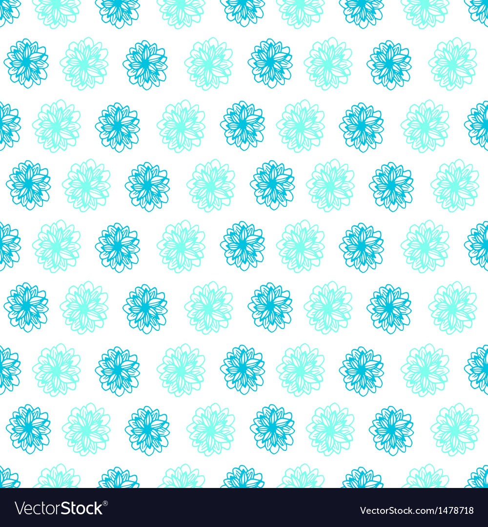 Summer seamless background with flower polka dots vector | Price: 1 Credit (USD $1)