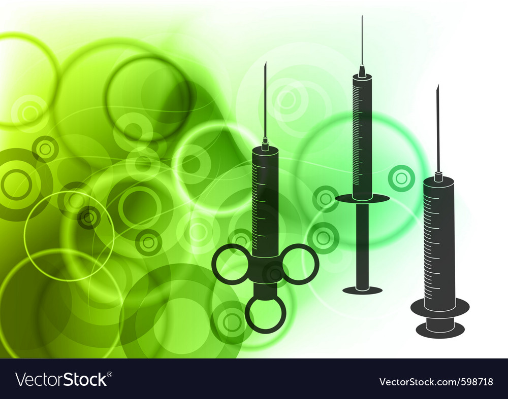 Syringe silhouettes vector | Price: 1 Credit (USD $1)