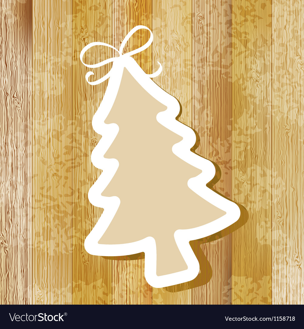 Tree on wooden background  eps8 vector | Price: 1 Credit (USD $1)