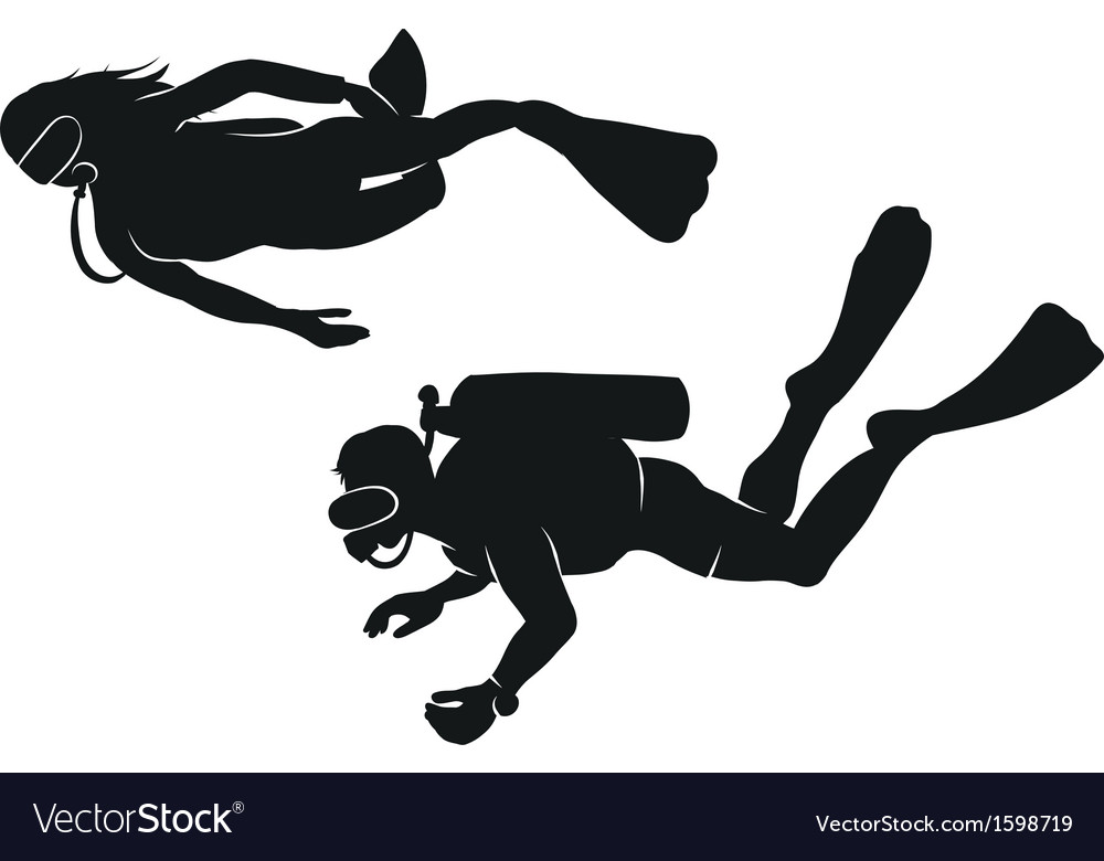 Divers vector | Price: 1 Credit (USD $1)