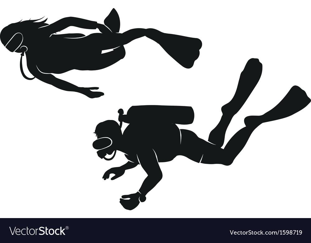 Divers vector | Price: 1 Credit (USD $1)