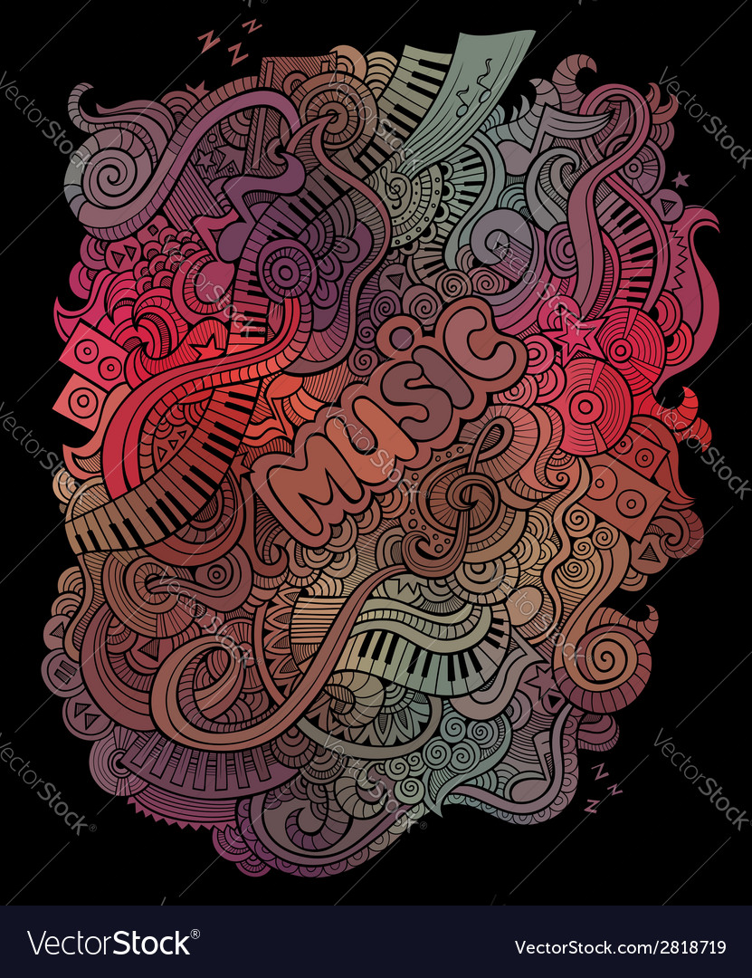 Doodles musical art background vector | Price: 1 Credit (USD $1)