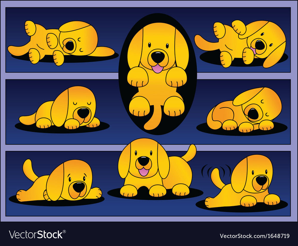 Labrador puppy ginger vector | Price: 1 Credit (USD $1)