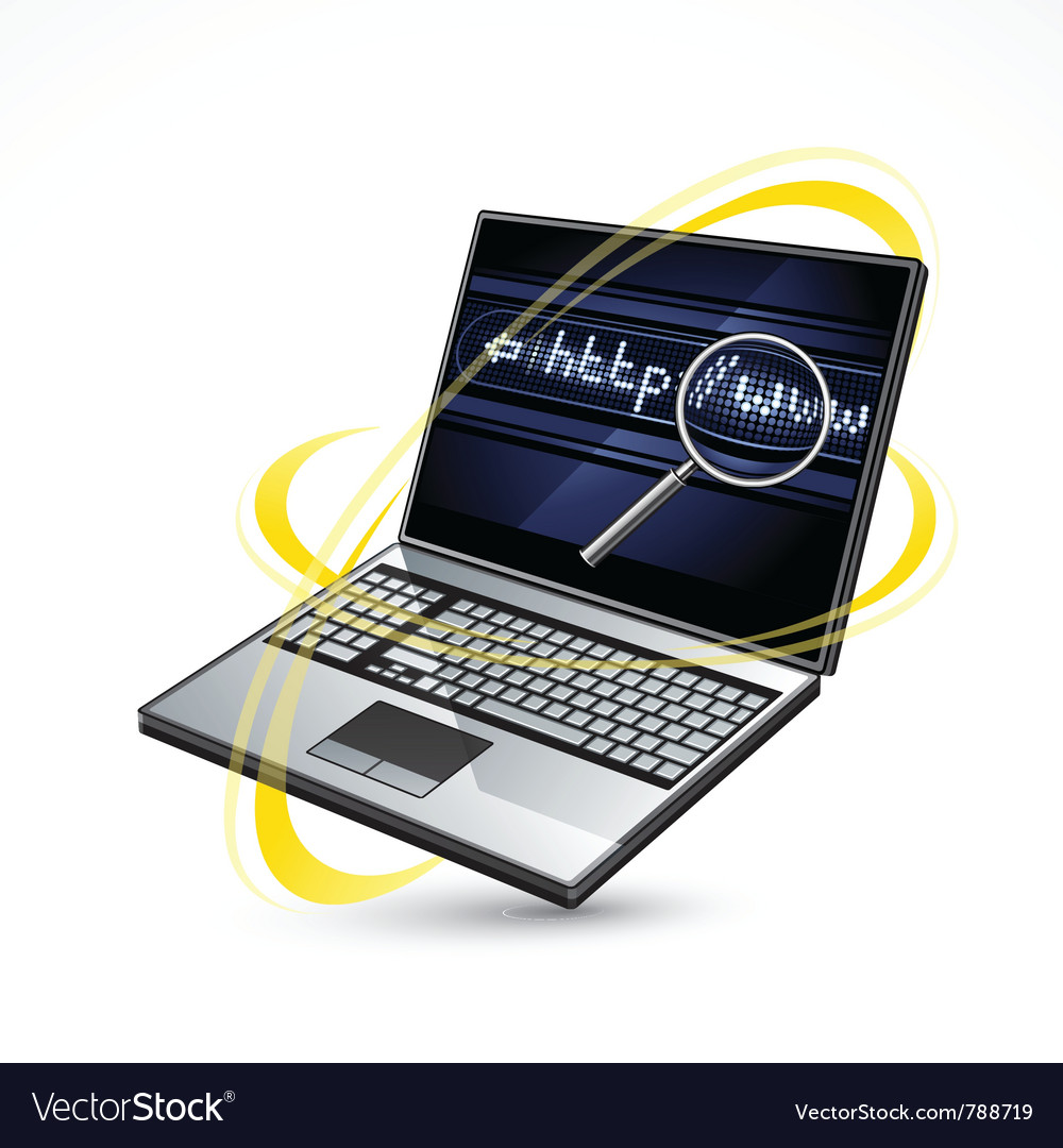 Laptop and internet vector | Price: 3 Credit (USD $3)