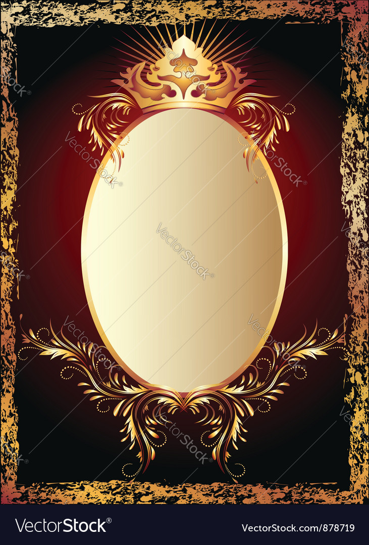 Luxurious copper ornament vector | Price: 1 Credit (USD $1)
