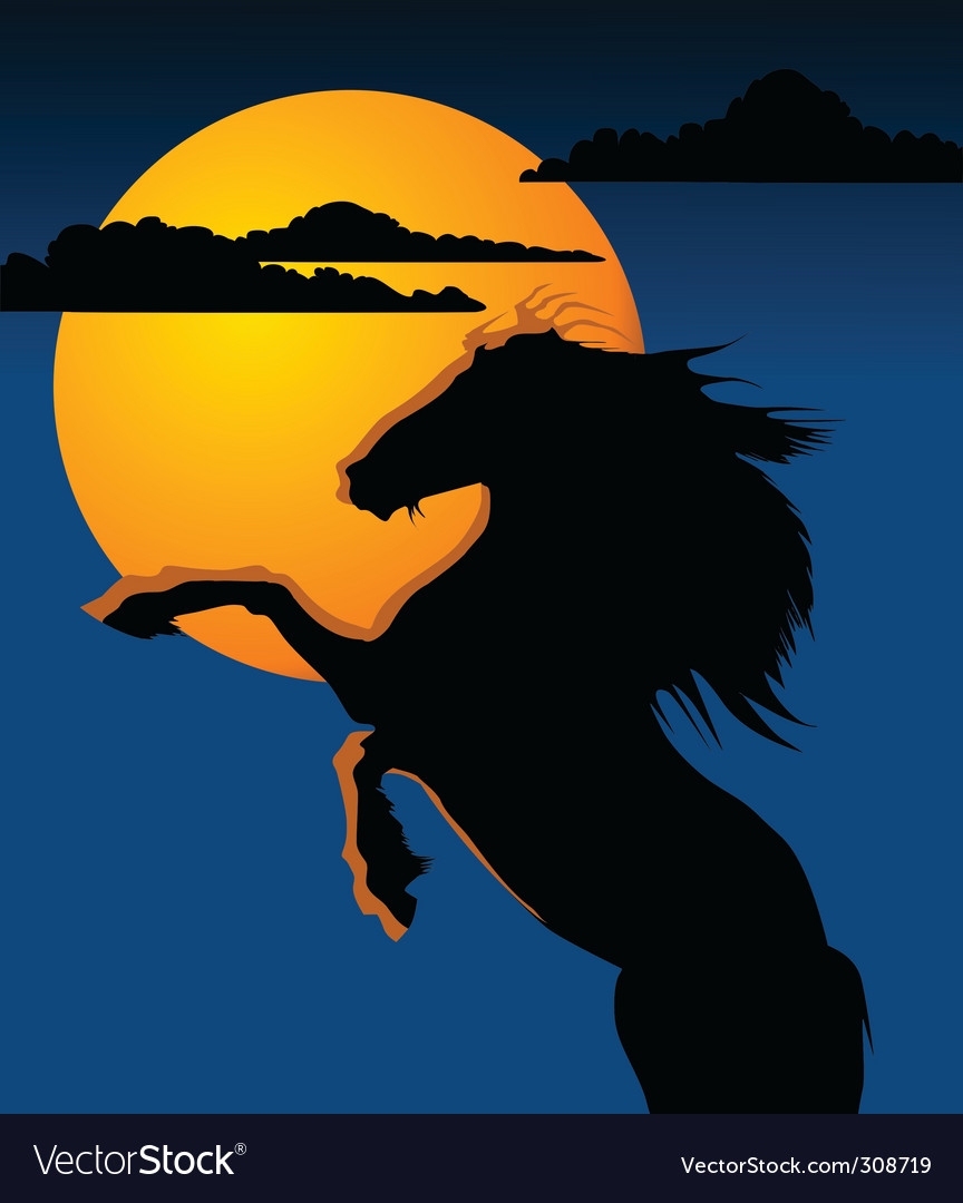 Night horse vector | Price: 1 Credit (USD $1)