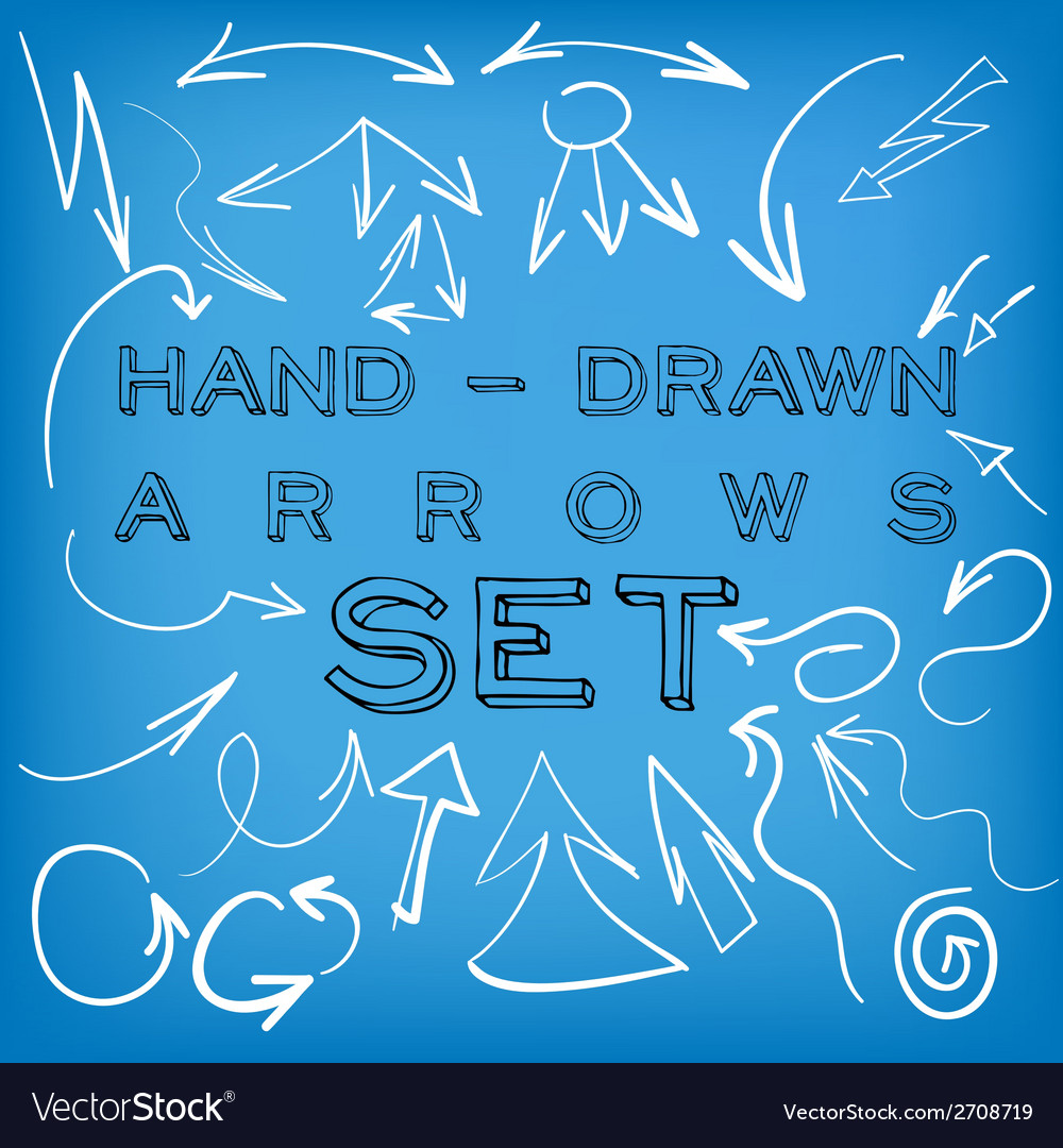 Set of hand-drawn arrows vector | Price: 1 Credit (USD $1)