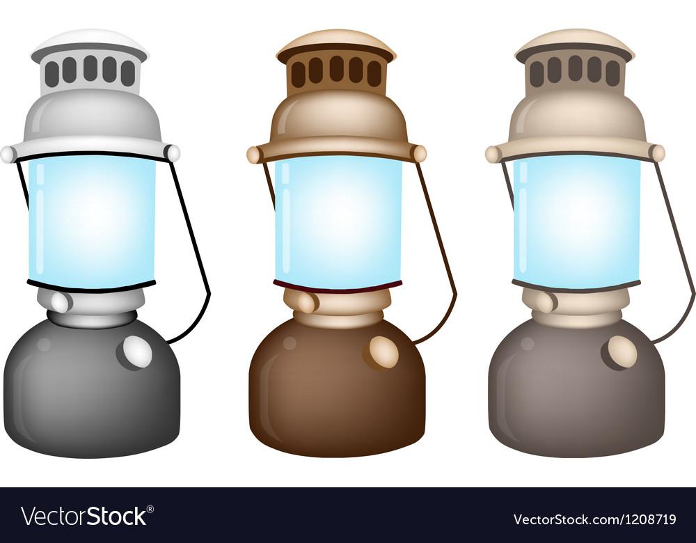 Set of old kerosene lamp vector | Price: 1 Credit (USD $1)