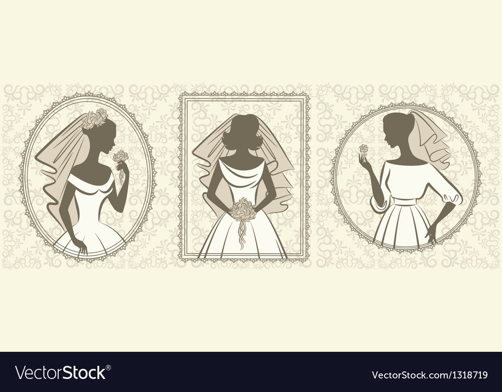Vintage wedding lady vector | Price: 1 Credit (USD $1)