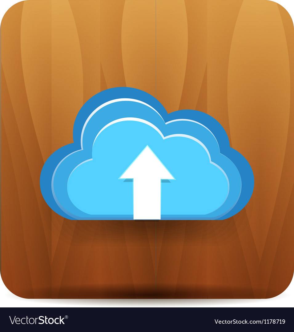 Virtual cloud icon vector | Price: 1 Credit (USD $1)