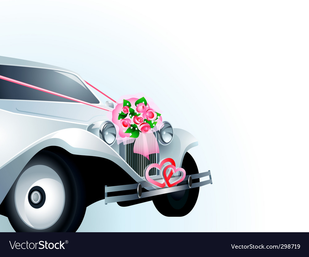 Wedding car card vector | Price: 1 Credit (USD $1)