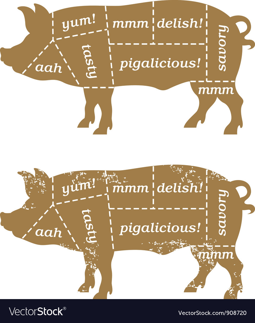Barbecue pig design element vector | Price: 1 Credit (USD $1)