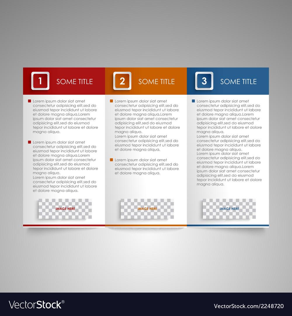 Brochure colored modern design element vector | Price: 1 Credit (USD $1)