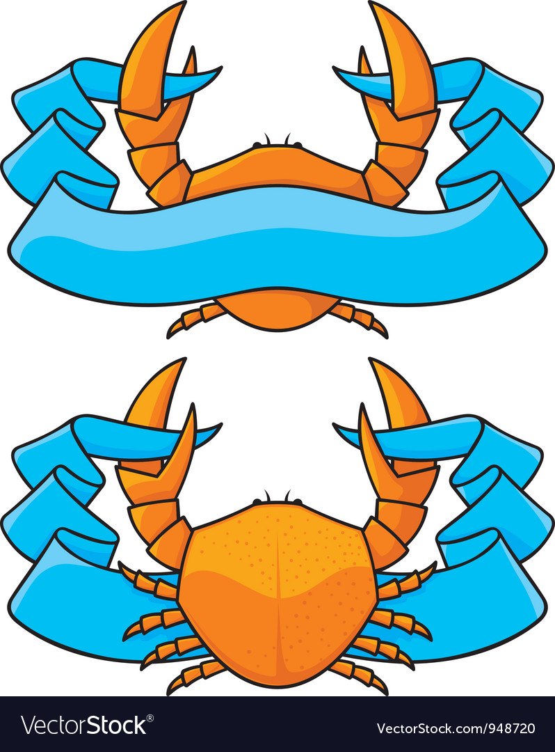 Crab banner vector | Price: 1 Credit (USD $1)