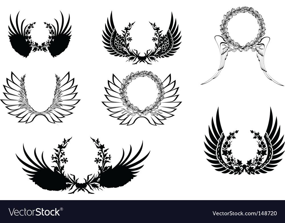 Decoprative wreathes vector | Price: 1 Credit (USD $1)