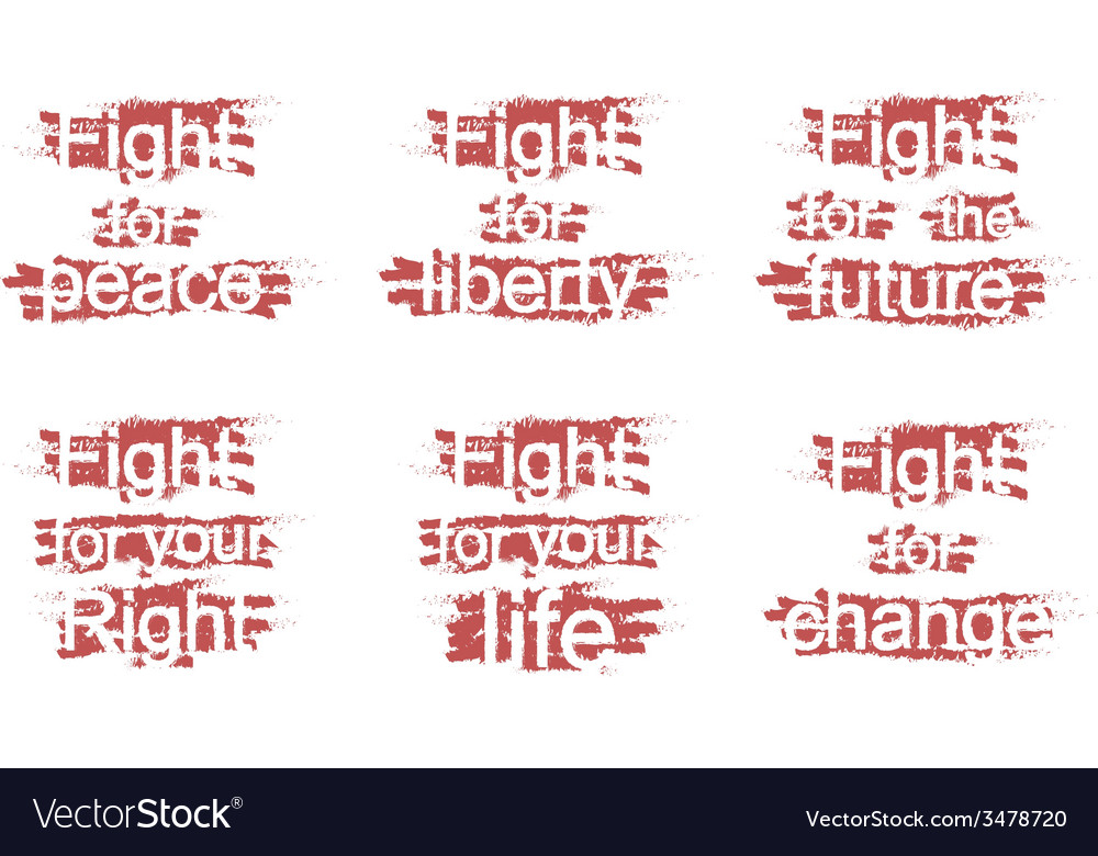 Fight for slogans vector | Price: 1 Credit (USD $1)