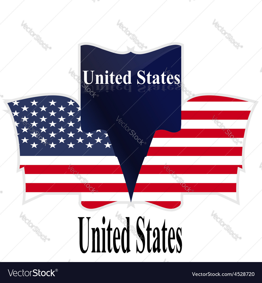 Flag usa american culture star form striped countr vector | Price: 1 Credit (USD $1)