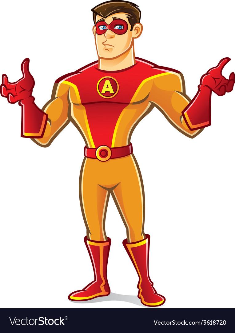 Handsome superhero regret vector | Price: 3 Credit (USD $3)
