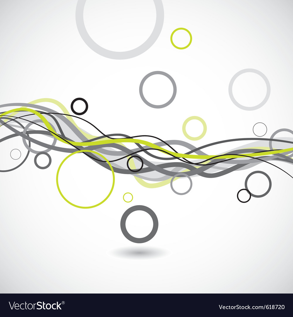 Lines and circles abstract background vector | Price: 1 Credit (USD $1)