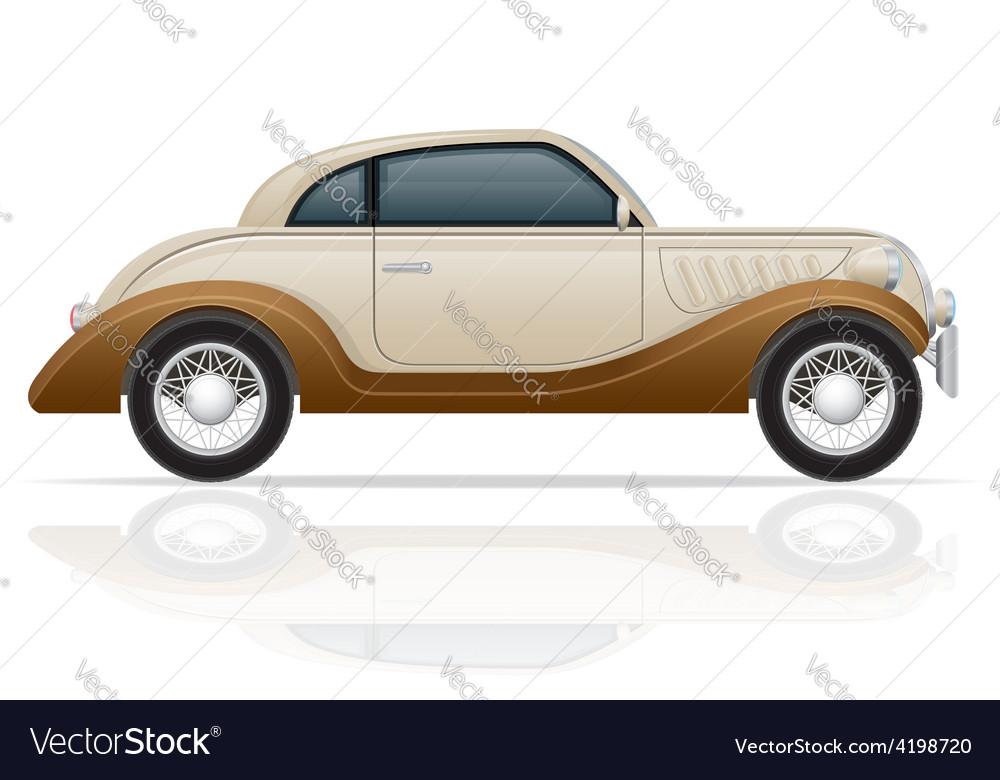 Old retro car 01 vector | Price: 1 Credit (USD $1)