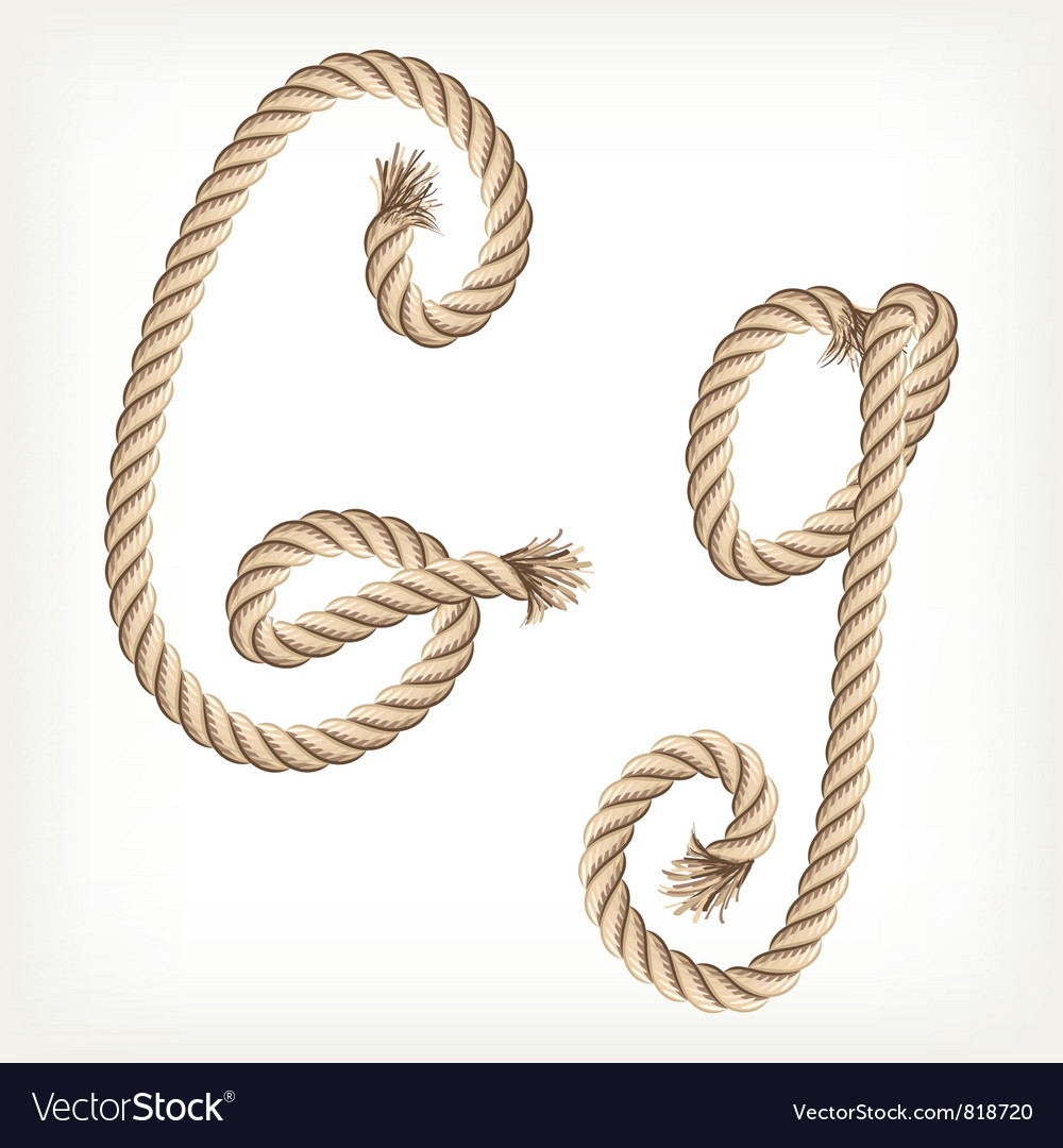 Rope alphabet letter g vector | Price: 1 Credit (USD $1)