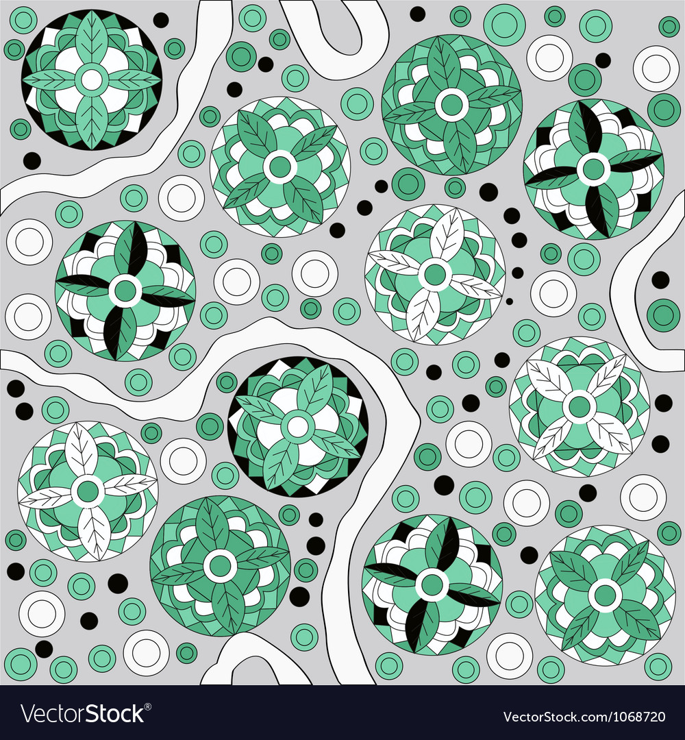 Seamless abstract pattern witn circles vector | Price: 1 Credit (USD $1)