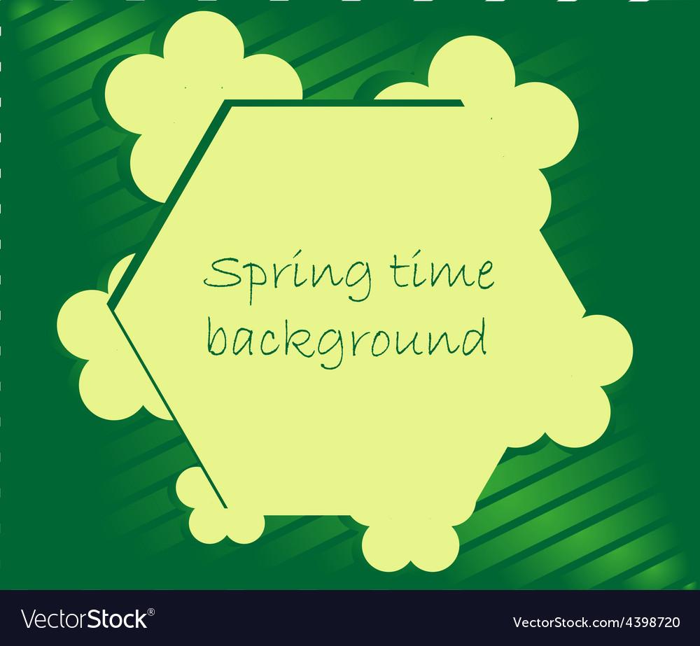 Spring season frame background vector | Price: 3 Credit (USD $3)