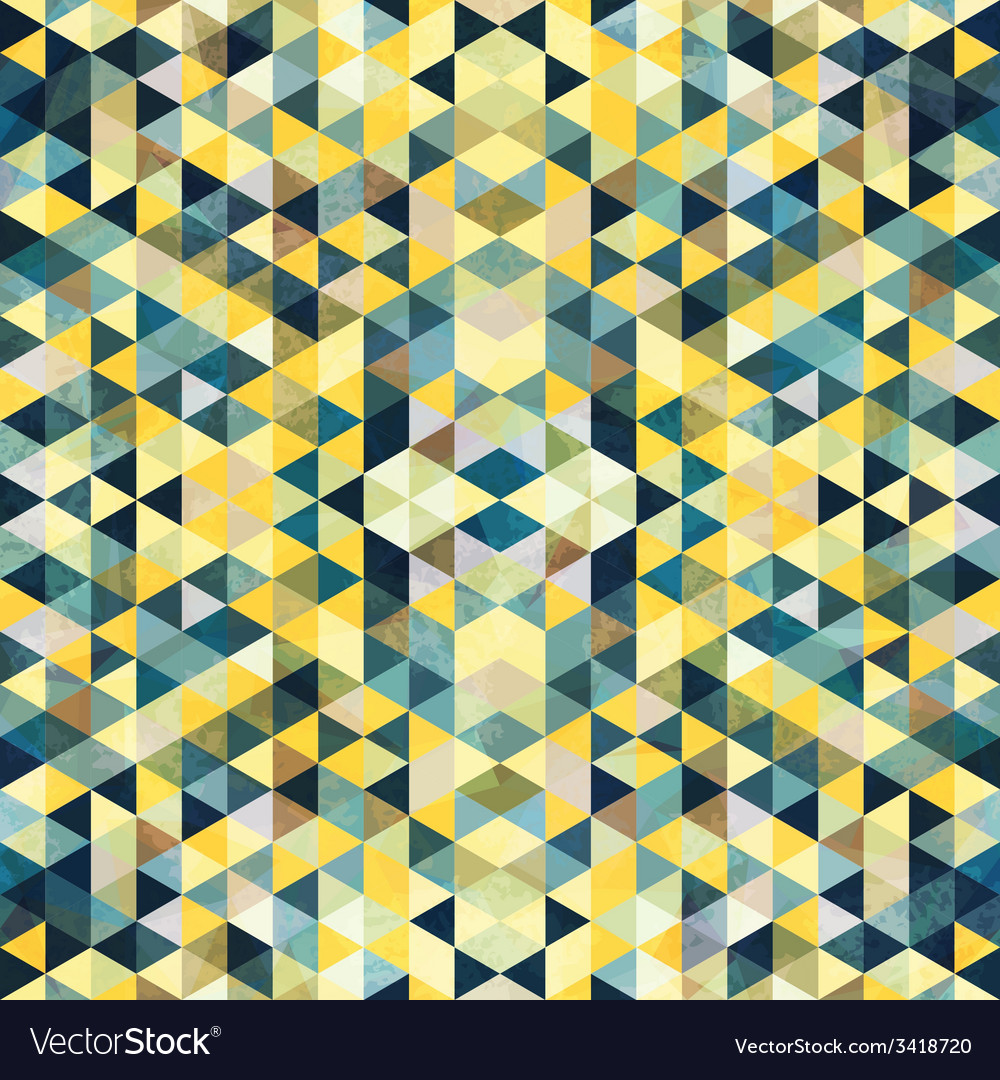 Triangular mosaic colorful background abstract vector | Price: 1 Credit (USD $1)