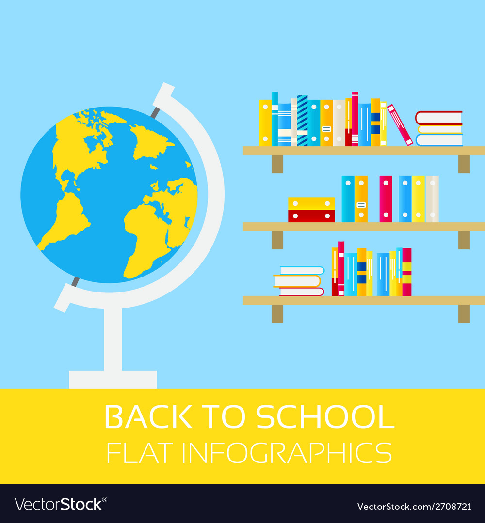 Back to school infographics vector | Price: 1 Credit (USD $1)