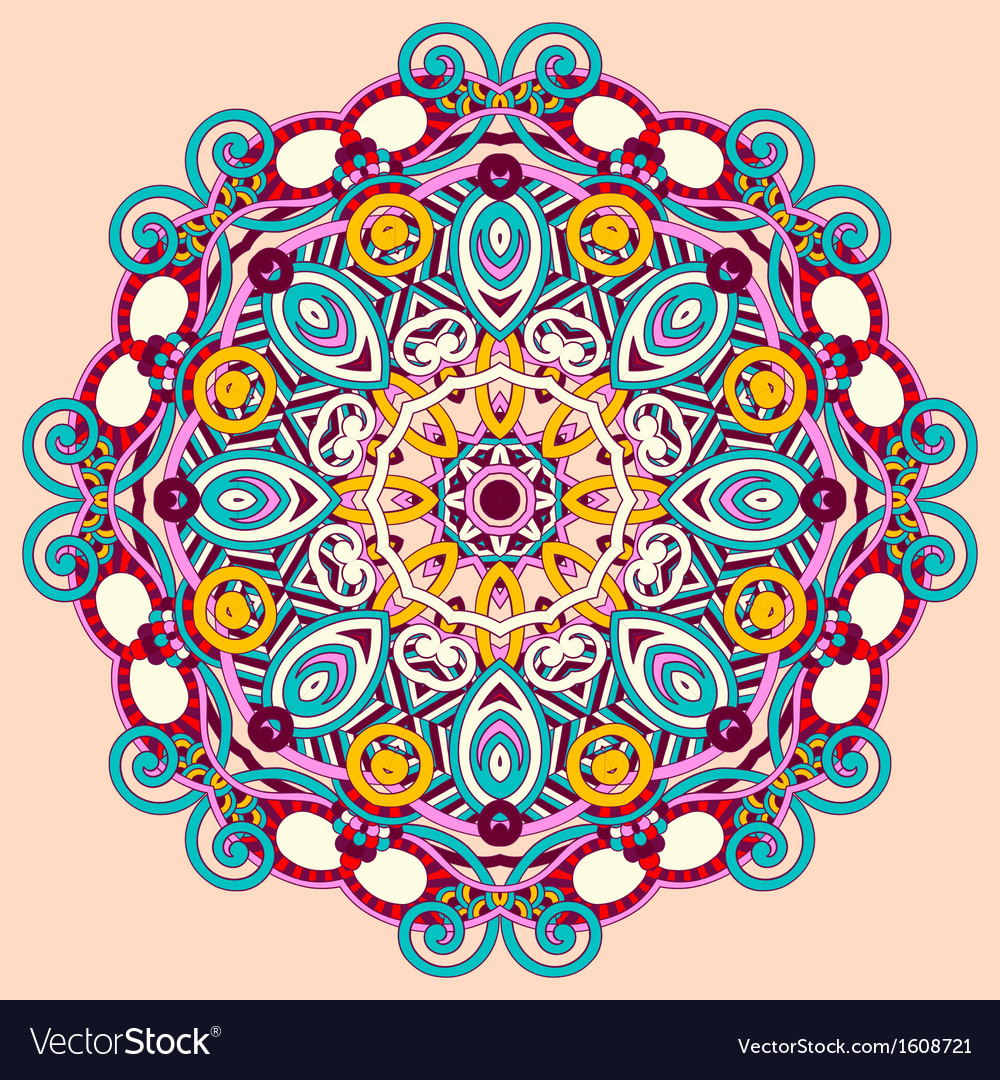 Circle ornament ornamental round lace vector   Price: 1 Credit (USD $1)