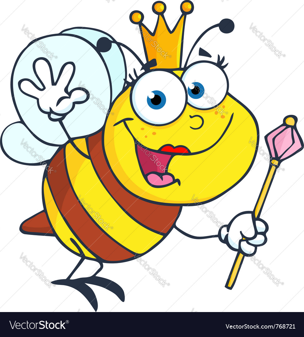 Friendly queen bee vector | Price: 1 Credit (USD $1)