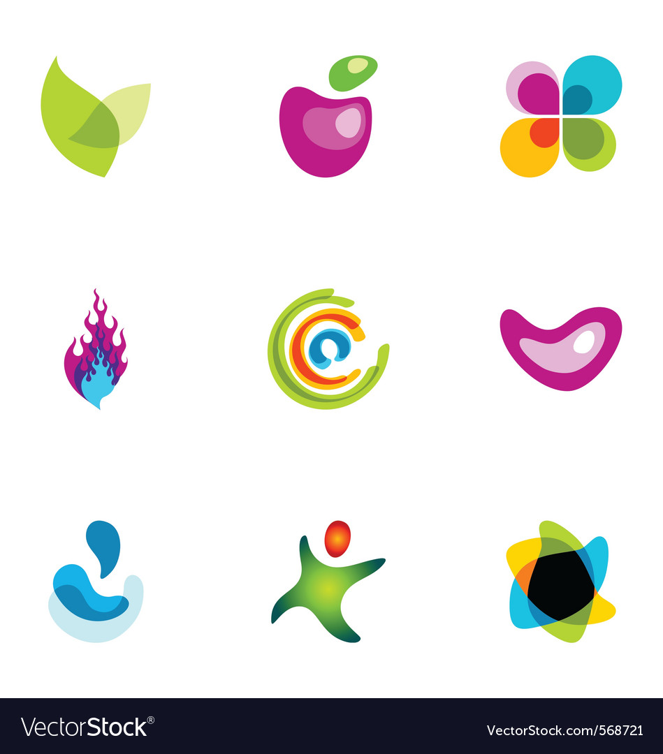 Logo design elements set 38 vector | Price: 1 Credit (USD $1)