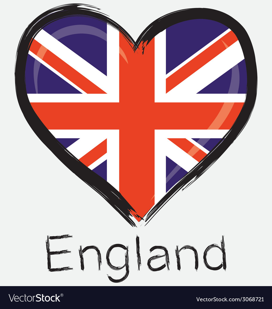 Love england flag vector | Price: 1 Credit (USD $1)
