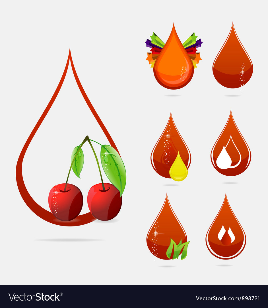 Medic creative blood drops set vector | Price: 3 Credit (USD $3)