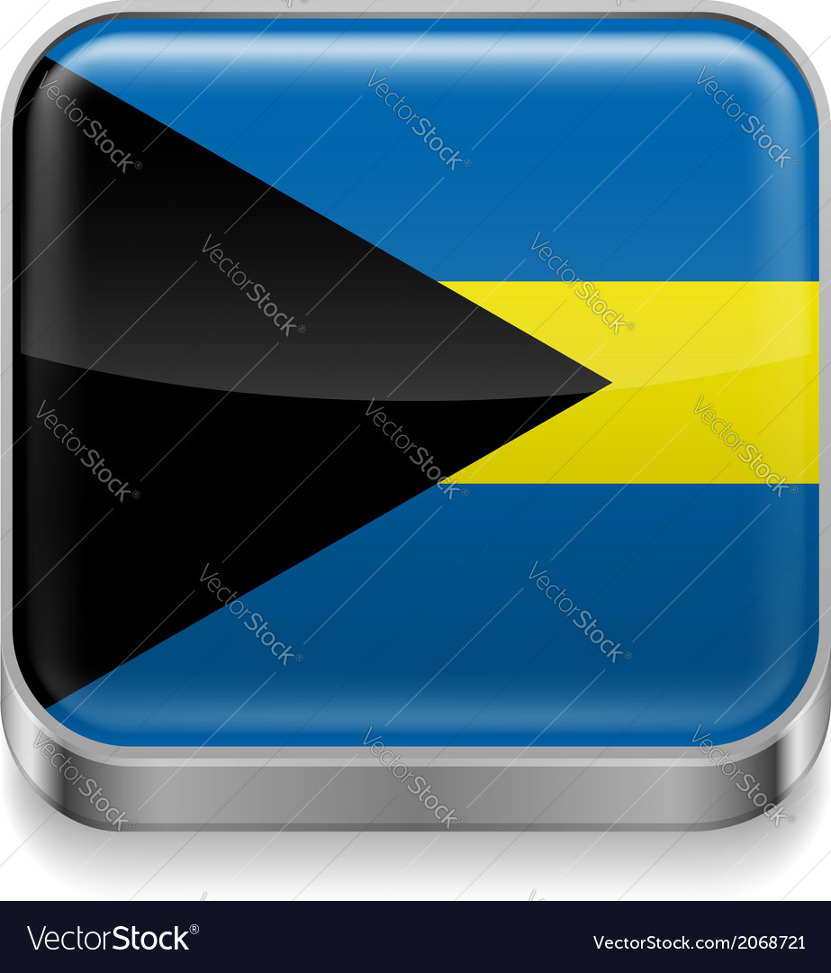 Metal icon of bahamas vector | Price: 1 Credit (USD $1)
