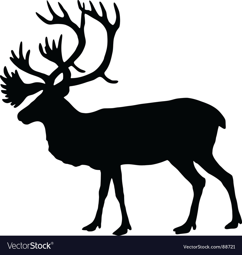 Silhouette of a caribou vector | Price: 1 Credit (USD $1)