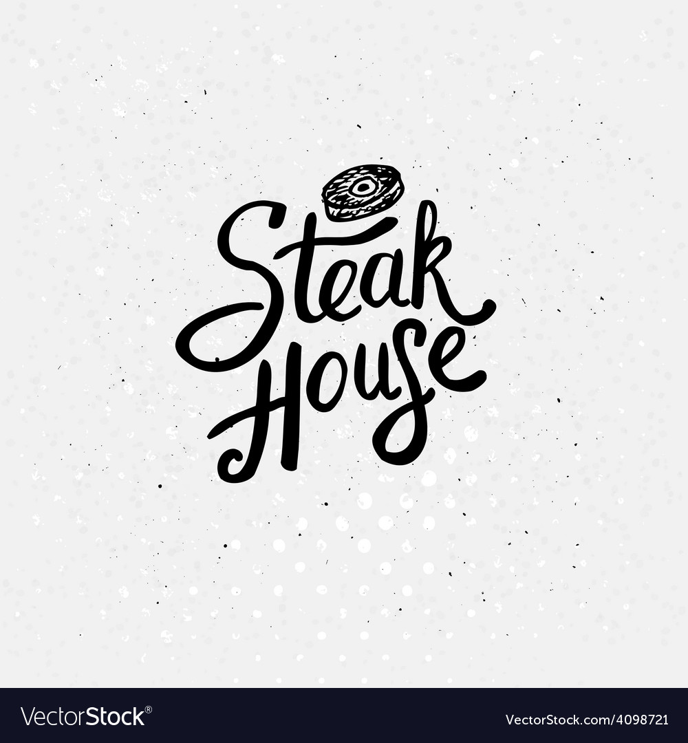 Simple text style for steak house concept vector | Price: 1 Credit (USD $1)