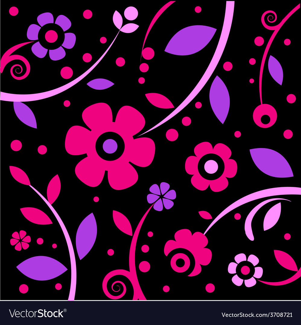 Stylish black and pink pattern vector | Price: 1 Credit (USD $1)