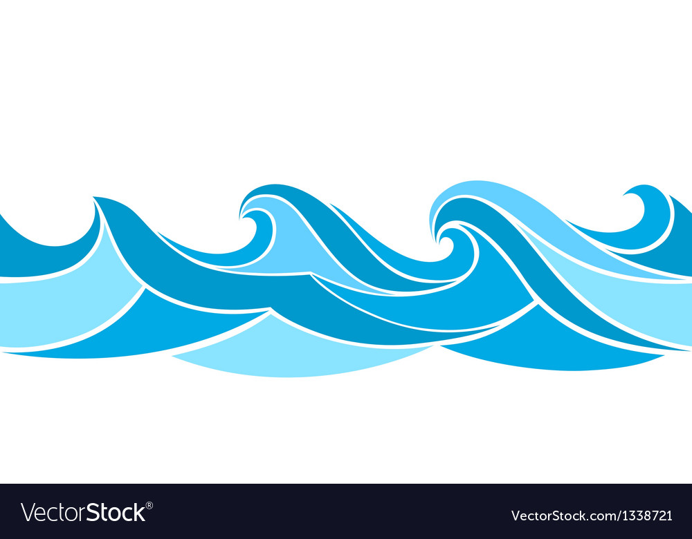 Stylized waves vector | Price: 1 Credit (USD $1)