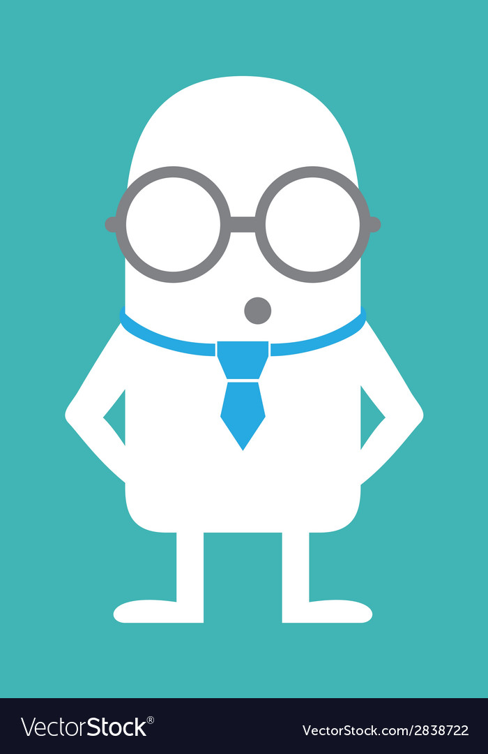 Animated personality intellectual vector | Price: 1 Credit (USD $1)
