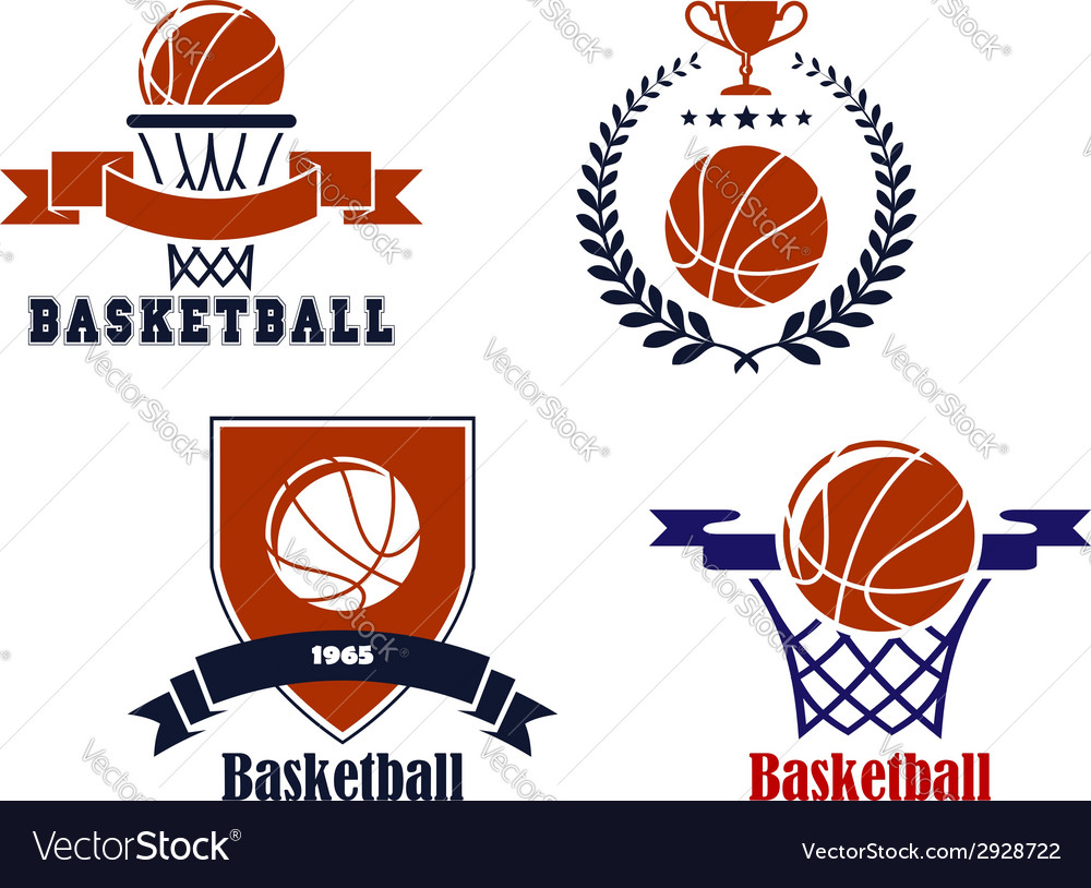 Basketball team emblems or symbols vector | Price: 1 Credit (USD $1)