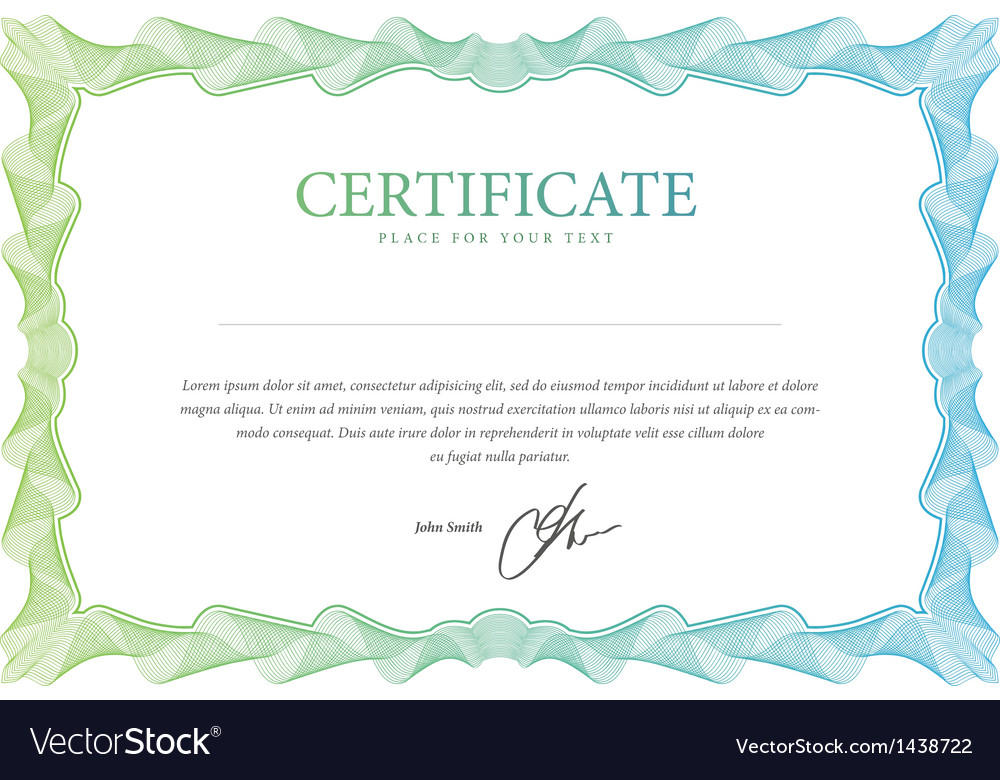 Certificate template that is used in currency and vector | Price: 1 Credit (USD $1)