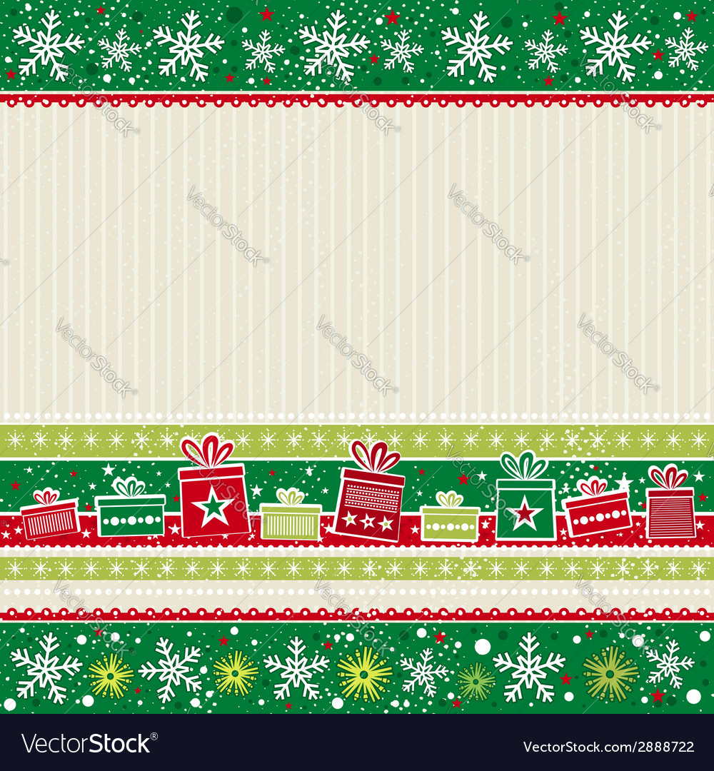 Color christmas card with gifts vector | Price: 1 Credit (USD $1)